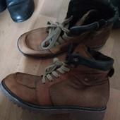 Зимние фирменные кожаные ботинки 41 р Geox