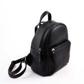 Черный мини рюкзак кожзам для девочки 5-12 лет Луцк качество