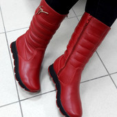 Тёплые и удобные зимние дутики 1503 красные