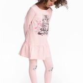 Очень красивый костюм H&M розовый с котиком.