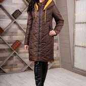 Размеры 44-56 Зимняя женская теплая длинная куртка