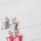 Новогодние бантики на повязочку или заколку