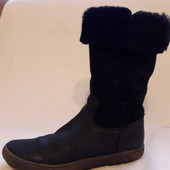 Зимние кожаные сапоги на натуральной овчине фирмы Compagnucci ( Италия) р. 36 стелька 23,5 см