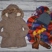 6 - 7 лет 116 - 122 см Обалденная фирменная парка куртка курточка фуфайка девочке хотя и мальчику