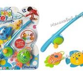 Детская рыбалка, удочка с крючком, 2 рыбки, для купания ванной