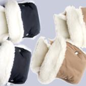 Тепленькие муфты для коляски на овчине