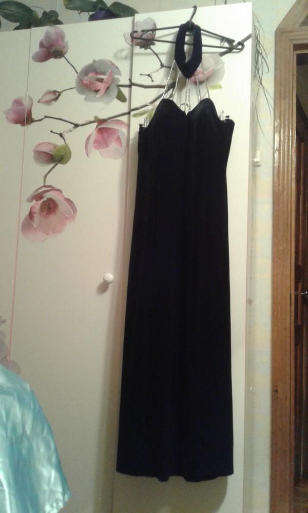 a87969f83c4 Продам нарядное женское вечернее платье велюр. размер 16англ. фото №1