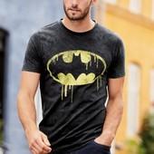 Стильна футболка Next з логотипом Batman® розм.xs-xxxl під замовлення