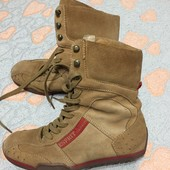 Esprit замшевые ботинки размер 38