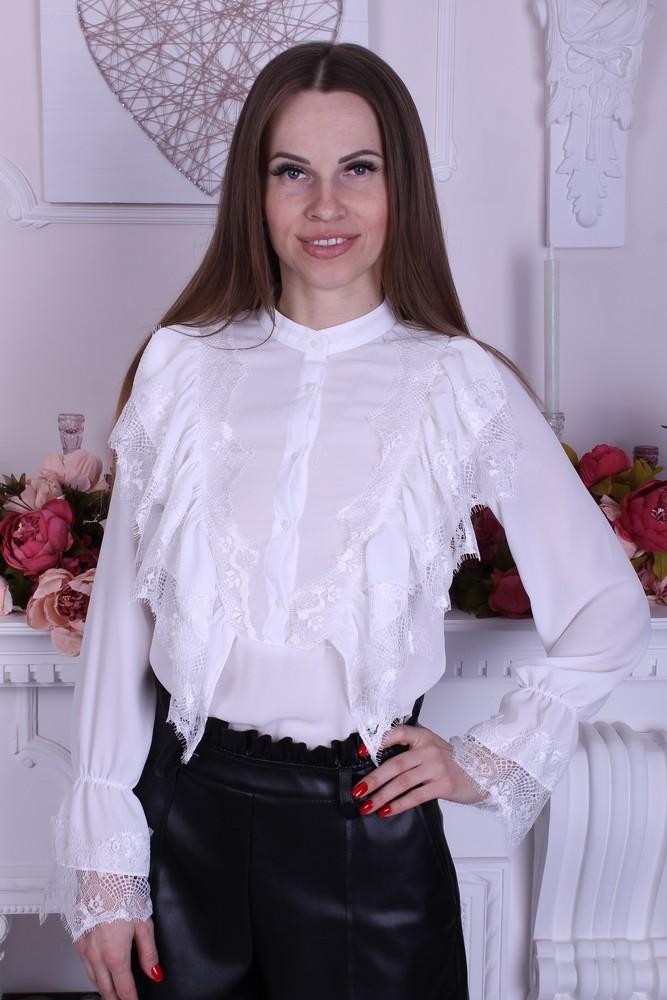 Белая женская блузка фото №1