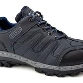 Мужские прошитые кроссовки - синие (F-13)