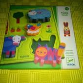 рамка-вкладыш пазл Djeco для самых маленьких /развивающая игрушка