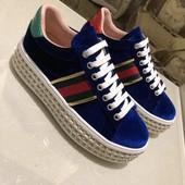 Кроссовки Gucci на платформе