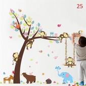 вінілова наклейка на стіну (стену стены)  Дерево + животные