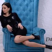 Платье Турция 2 цвета аппликация 42,44,46 размеры