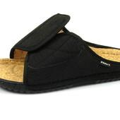 100-FM-17-014 тапочки мужские домашние Inblu Инблу, цвет - черный, размеры 40-46