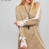 Платье-туника свободный силуэт 3 цвета р-ры 42-48