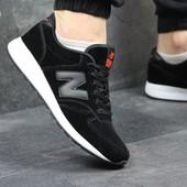 Кроссовки New Balance 420 black, замш