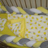 Бортик косичка и постель в кроватку