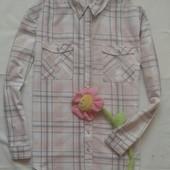 Удлиненная рубашка в клетку Next ( L )