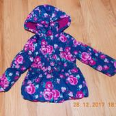 Демисезонная куртка TU для девочки 2-3 года. 92-98 см