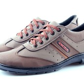 Спортивные туфли-кроссовки в коричнево цвете (К22)