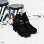 """2530 Демисезонные ботинки""""Moschino"""" со съемными ремешками."""