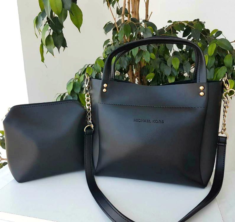 e67c3506d9bd Женская черная кожаная сумка michael kors /мишель корс/майкл корс фото №1