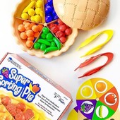 Оригинал пирог - набор для сортировки Super sorting pie learning resources