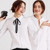 БроЭлегантная блузка полуприлегающего силуэта Tchibo – идеальная базовая вещь для офисного гардероба