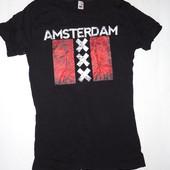 Мужская футболка Amsterdam р.М  (ог 84-96) коттон стрейч