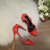 (36р./23,5см) Aldo! Роскошные коралловые туфли модного фасона