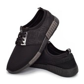 Кроссовки мужские спортивные и легкие - черные (300-blk)