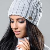 Женская шапка серая