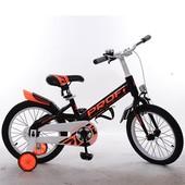 Велосипед детский Profi 18д. W18115-4 Original,черный,крылья,звонок,доп.колеса