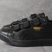 Кроссовки Puma suede  Black leather, р. 36-40, код mvvk-1023П