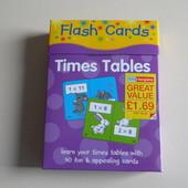 Карточки на английском для изучения умножения!
