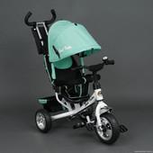 Детский трехколесный велосипед Best Trike 6588 бирюзовый (колеса пена)