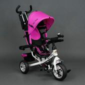 Детский трехколесный велосипед Best Trike розовый  колеса пена