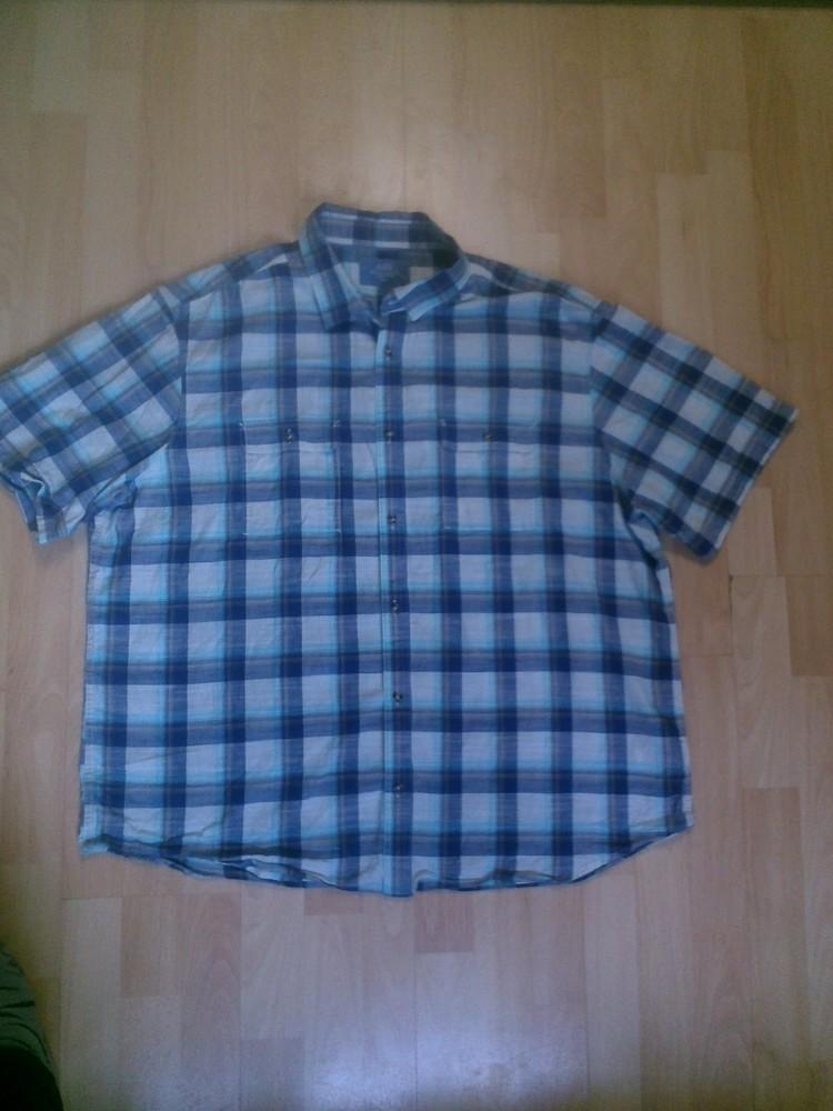 Фирменная хлопковая рубашка XXXL фото №1