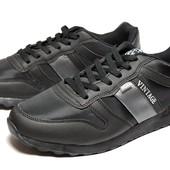 Спортивные мужские кроссовки в черном цвете (SK-28)