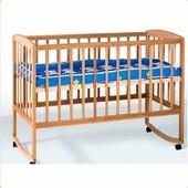 Кровать детская з дугами + колеса (1200*600)(бук)1790014