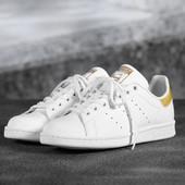 Кроссовки adidas Stan Smith white gold, р. 36-42, код mvvk-516А