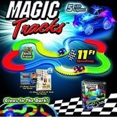Светодиодная трасса, гоночная трасса Magic Tracks (Мэджик трек) трасса для машинок