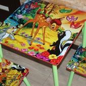 Столик + стульчик 60 *60 см Безкоштовна доставка по м.Бориспіль та м.Київ - лівий берег