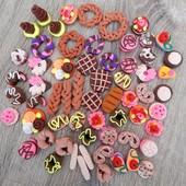 Сладкая выпечка для кукол Барби: булки, круассаны, кексы, печенье, рогалики и др.