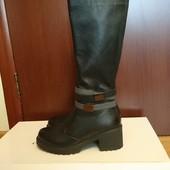 Красивые кожаные сапоги на цигейке Эдита-Ш Soldi (Солди) 39 р, 26 см.