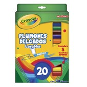 Crayola смываемые фломастеры 20 цветов оригинал