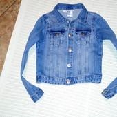 Джинсовая курточка  Denim от H&M. 7-8 лет. 122-128 см