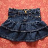 2-3 года, Джинсовая юбка Denim Co, б/у.